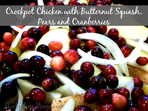 Crockpot Paleo Chicken with Butternut Squash, Pears and Cranberries is delicious and so good for you!