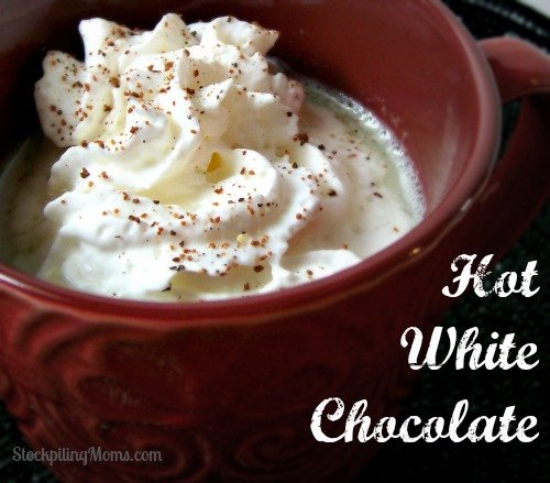 Only 3 ingredients in this delicious Hot White Chocolate that is perfect for winter!