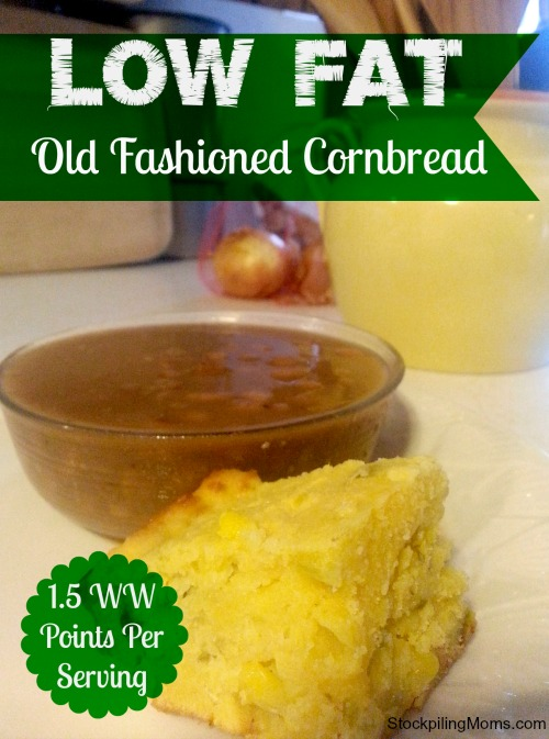Low Fat Old Fashioned Cornbread is so moist and delicious. The perfect addition to any dinner.