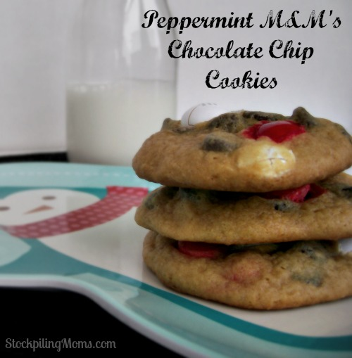 Peppermint M&Ms Cookies