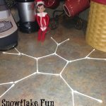 Snowflake Fun Elf on the Shelf Idea