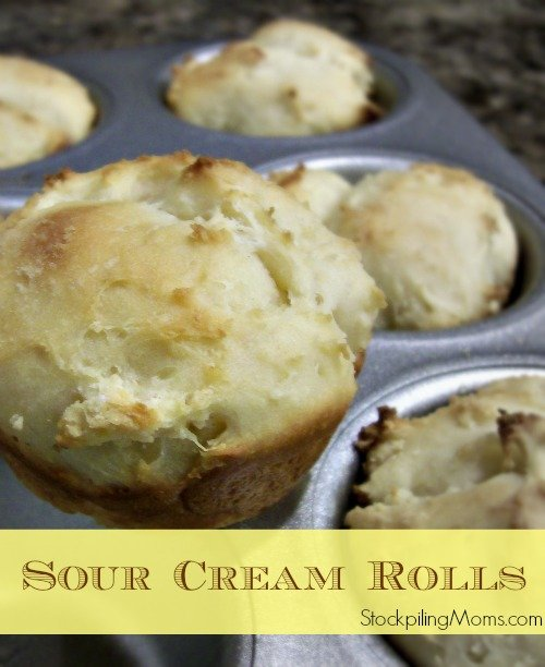Homemade Sour Cream Rolls that are ready to bake in an hour!