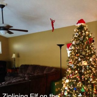 Ziplining Elf on the Shelf® Idea Day 19