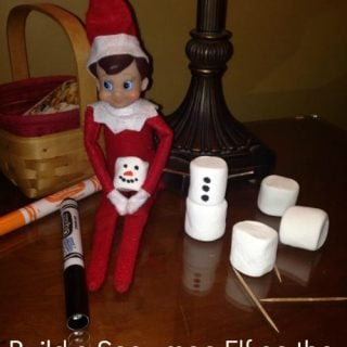 Build a Snowman Elf on the Shelf® Idea