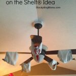 ceiling fan fun elf on the shelf idea