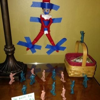 Army Men Capture Elf on the Shelf® Idea