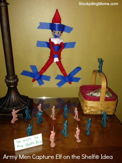 Army Men Capture Elf on the Shelf Idea - The kids loved this one!