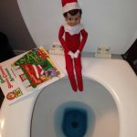 elf goes potty Elf on the Shelf® Idea