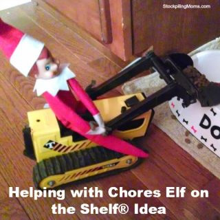 Helping with Chores Elf on the Shelf® Idea