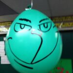 grinch party balloon