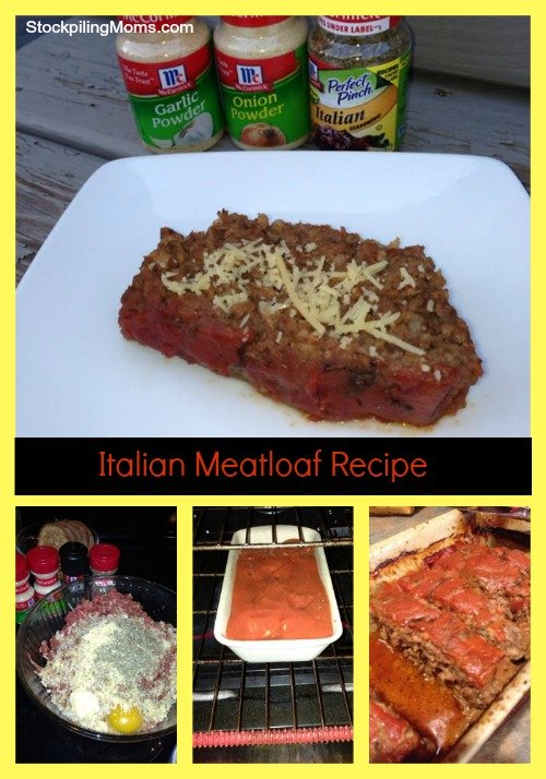 Italian Meatloaf Recipe is a delicious twist on the traditional version. Give this a try!