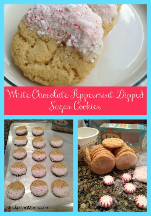 White Chocolate Peppermint Dipped Sugar Cookies are so easy to make and taste delicious!