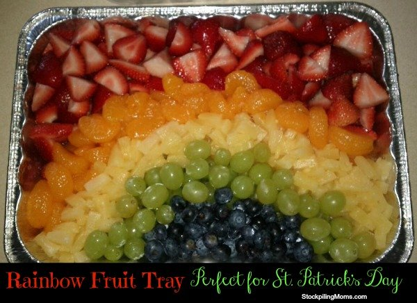 Rainbow Fruit Platter is the perfect way to celebrate St. Patrick's Day!