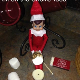 Roasting Marshmallows Elf on the Shelf® Idea