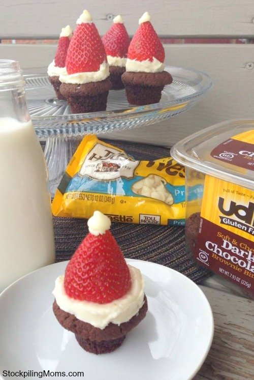 Santa brownie bites are so easy to make and taste great!