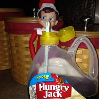 Our Elf Likes Syrup too – Elf on the Shelf® Idea