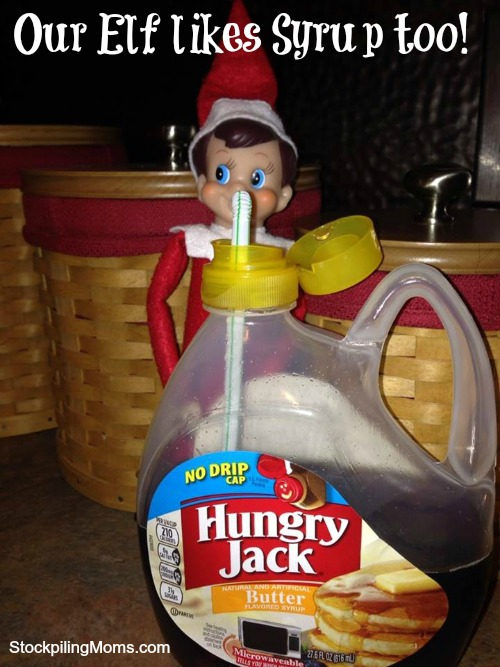 Our Elf Likes Syrup too - Elf on the Shelf® Idea
