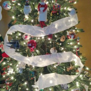 Toilet Paper the Tree Elf on the Shelf® Idea Day 15