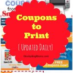 Grocery Coupons to Print – Updated daily!