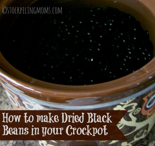 How to use your Crockpot to make Black Beans! Save money buying bagged beans instead of cans!
