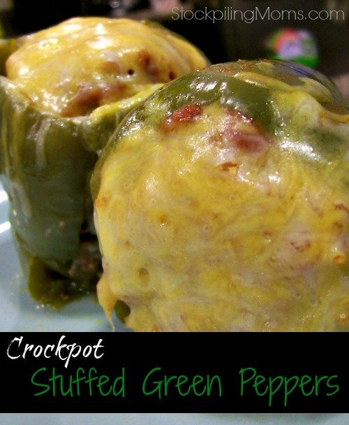 Here is a great way to make Stuffed Green Peppers using your crockpot!