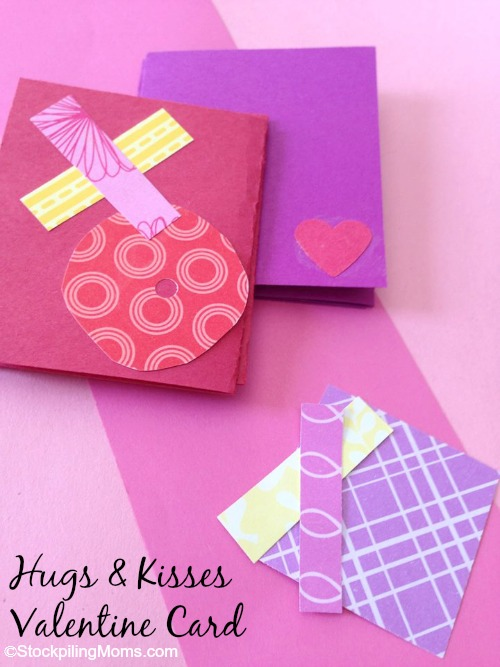 Easy Hugs & Kisses Valentine Card