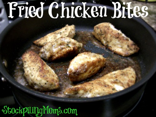 Fried Chicken Bites are ready in less than 20 minutes! Quick and easy dinner!