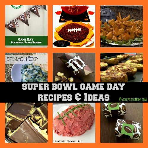 Super Bowl Game Party Recipes and Ideas that will keep your party planning easy!