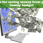 Tips for saving money from your family budget