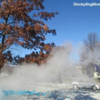 Can you turn boiling water to snow?