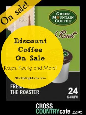 discount coffee on sale