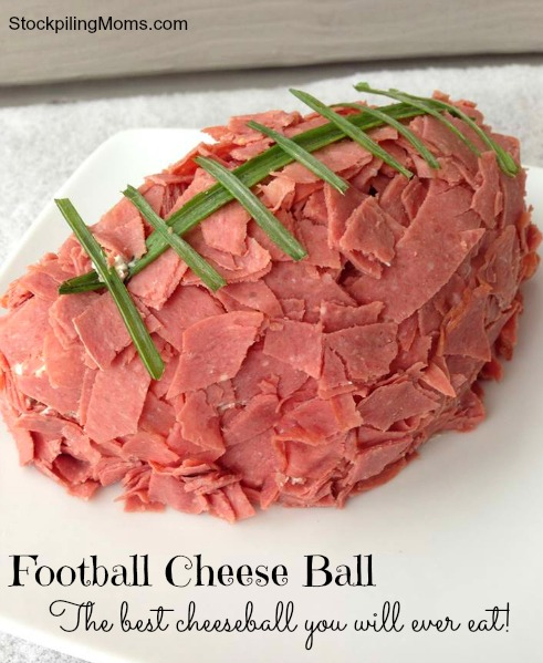 Football Cheese Ball is the best tasting cheeseball you will ever eat!