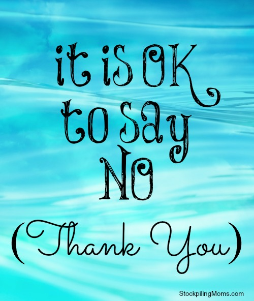 It is OK to say NO (Thank You) - how this simple phrase has changed my life.