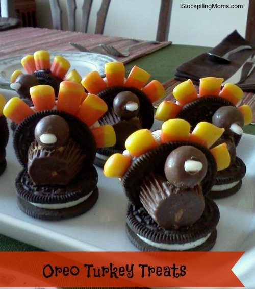 This oreo turkey treat is perfect to make with the kids on Thanksgiving