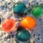 snow day fun - ice marbles