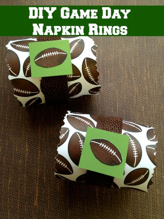 DIY Game Day Napkin Rings are easy to make and perfect for the big game!
