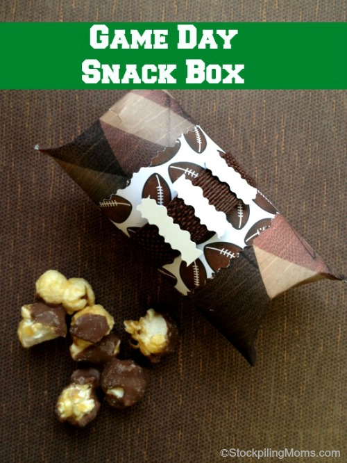 This DIY Game Day Snack Box is the perfect favor for your next sports themed party or game day!