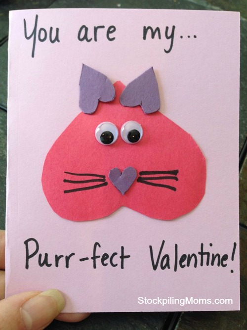 You Are My Purr Fect Homemade Valentine Card