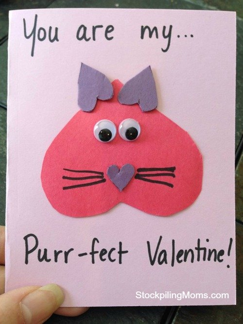 You are my purrfect Homemade Valentine Card – Easy Homemade Valentines Cards