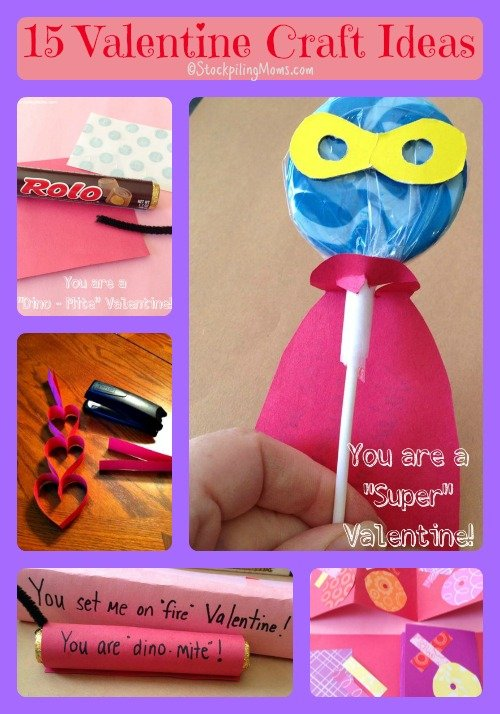 15 Valentine's Day Crafts and Ideas that are perfect for kids! #valentine #craft