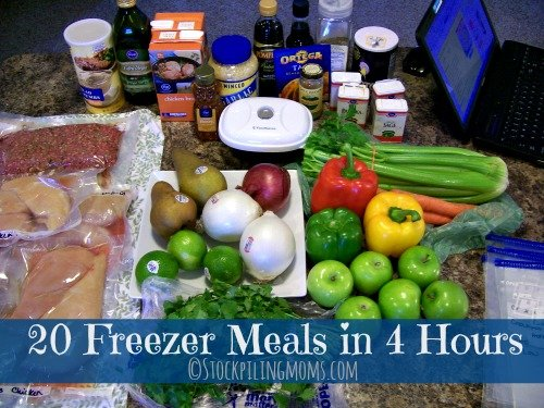 20 Freezer Meals in 4 Hours