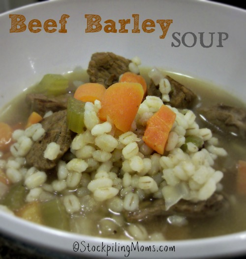 Beef Barley Soup is a Weight Watchers recipe and is clean eating! Only 8 points a serving!