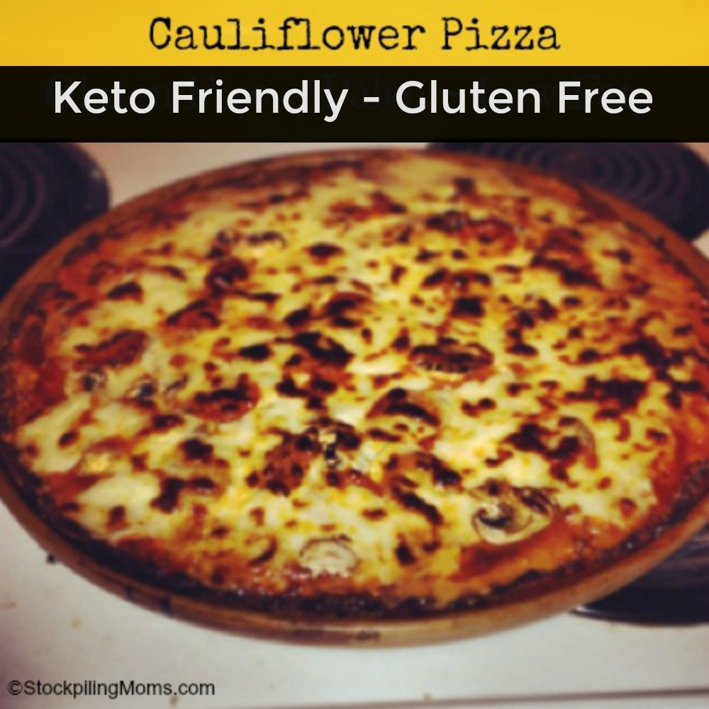 This cauliflower pizza is Keto friendly and gluten free. You will never miss the gluten filled crust when you try it!