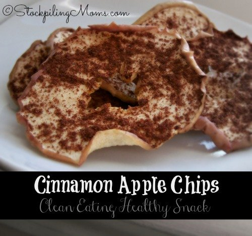 This Homemade Cinnamon Apple Chips Recipe is a Healthy Snack that the kids will love!