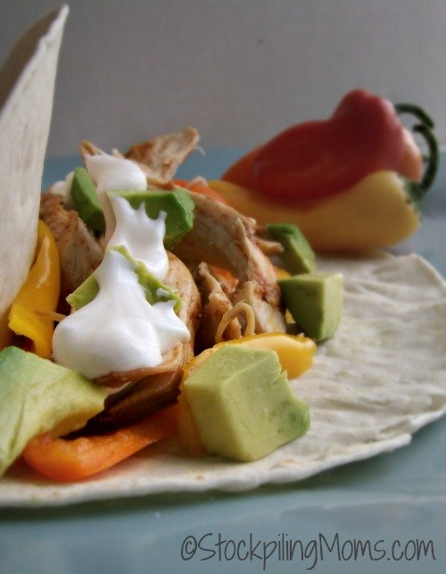 Crockpot Chicken Fajitas is an amazing one dish meal!