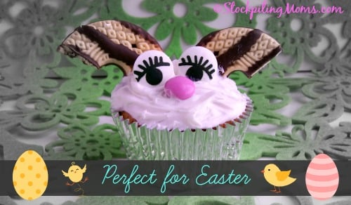 Easy Bunny Cupcakes are super cute and perfect for Easter!