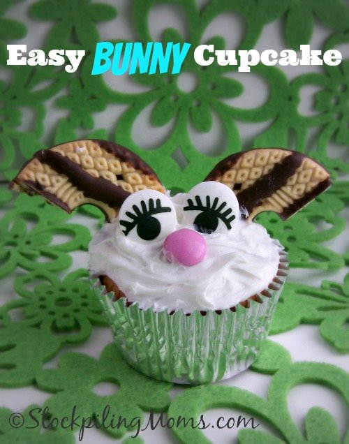 How cute is this Easy Bunny Cupcake?!?!?! #easter #bunny #cupcake