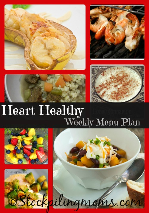 Heart Healthy Menu Plan with amazing and delicious dinner recipes!