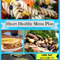 Heart Healthy Weekly Menu Plan