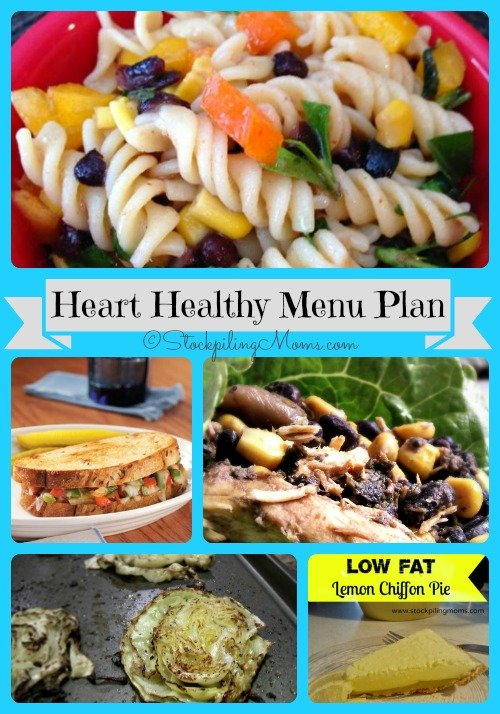 Heart Healthy Weekly Menu Plan to save time and money on your dinners this week!